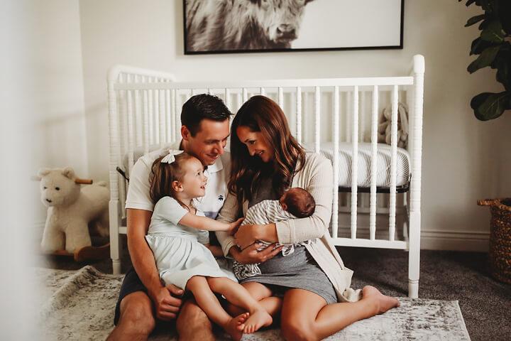 OHare family newborn in home Kalamazoo Michigan